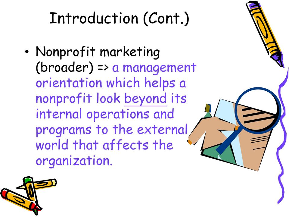 orientation which helps a nonprofit look beyond