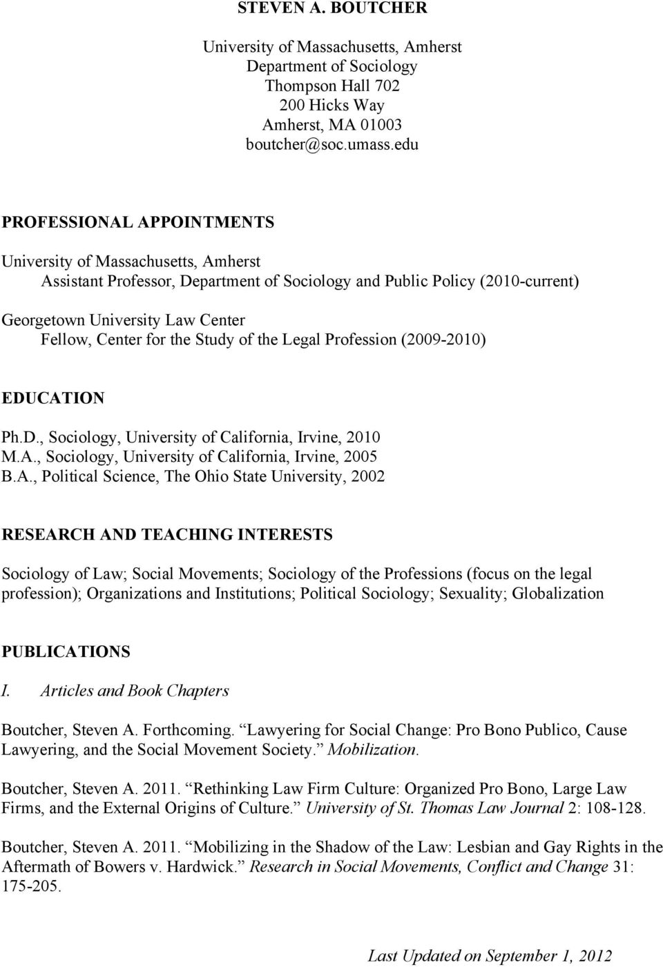 the Study of the Legal Profession (2009-2010) EDUCAT