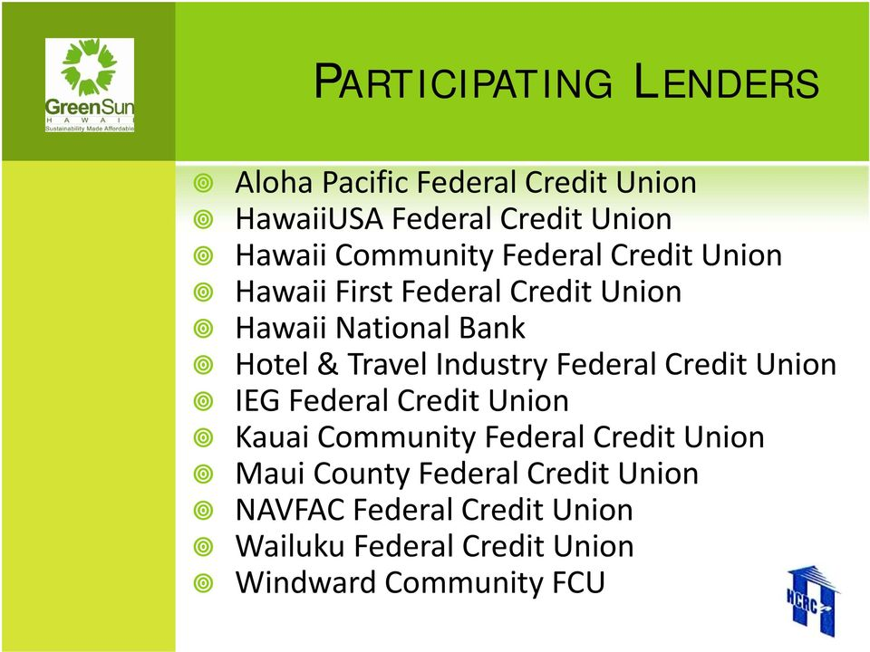 Travel Industry Federal Credit Union IEG Federal Credit Union Kauai Community Federal Credit Union