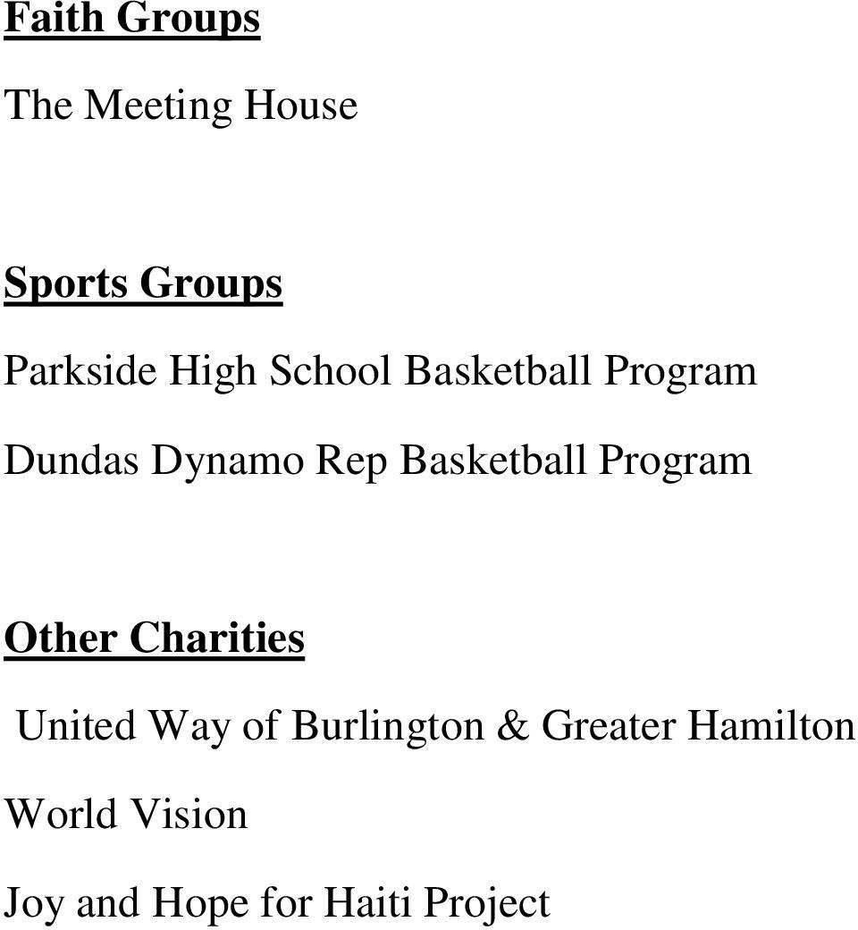 Basketball Program Other Charities United Way of