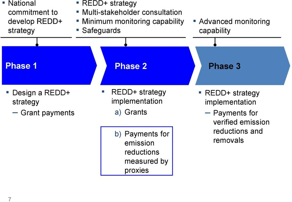 strategy Grant payments REDD+ strategy implementation a) Grants b) Payments for emission reductions