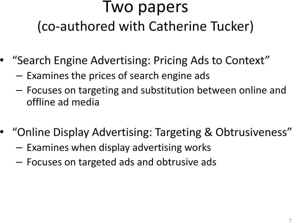 substitution between online and offline ad media Online Display Advertising: Targeting