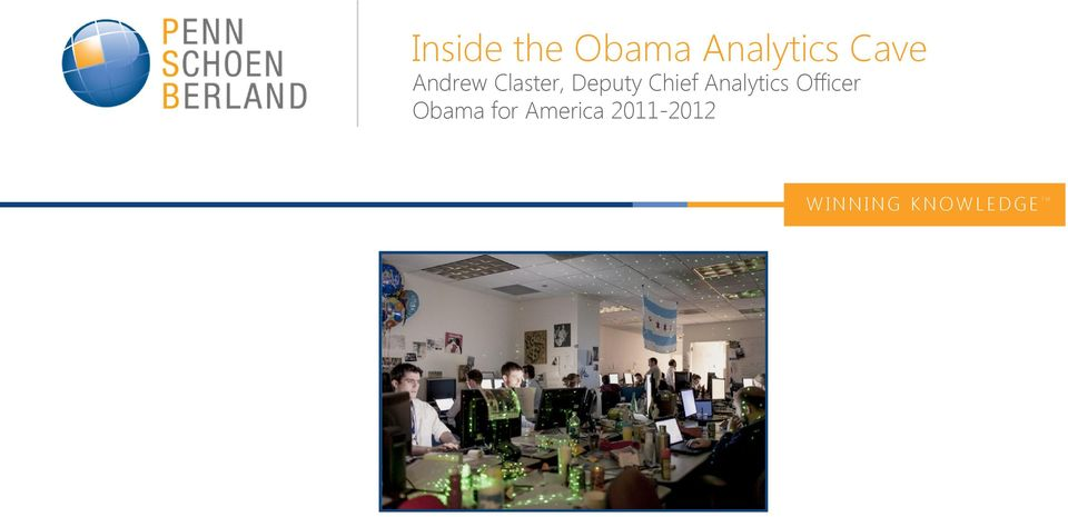 Analytics Officer Obama for