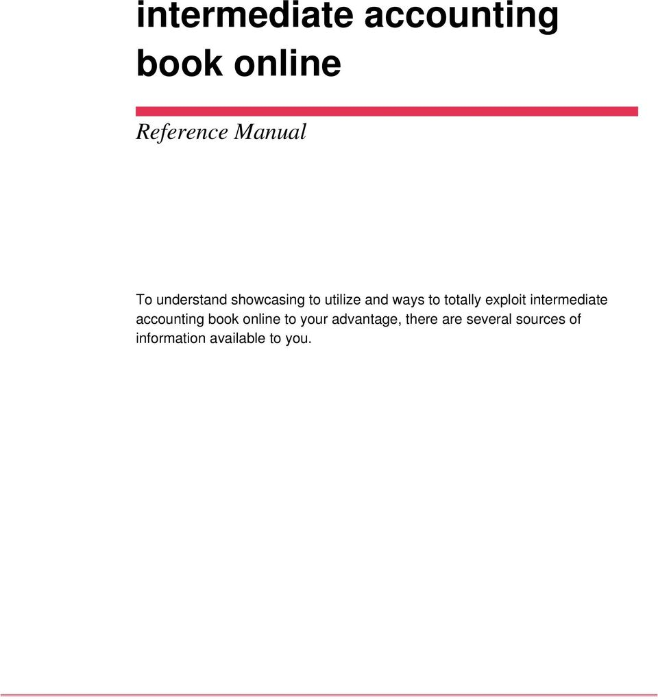 exploit intermediate accounting book online to your