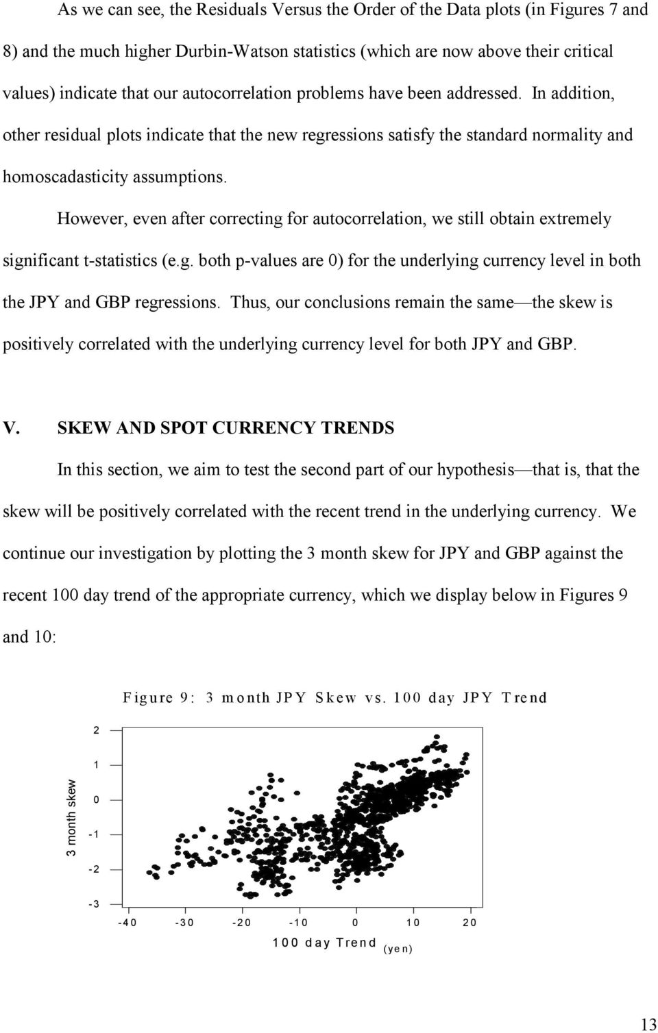 However, even after correcting for autocorrelation, we still obtain extremely significant t-statistics (e.g. both p-values are 0) for the underlying currency level in both the JPY and GBP regressions.