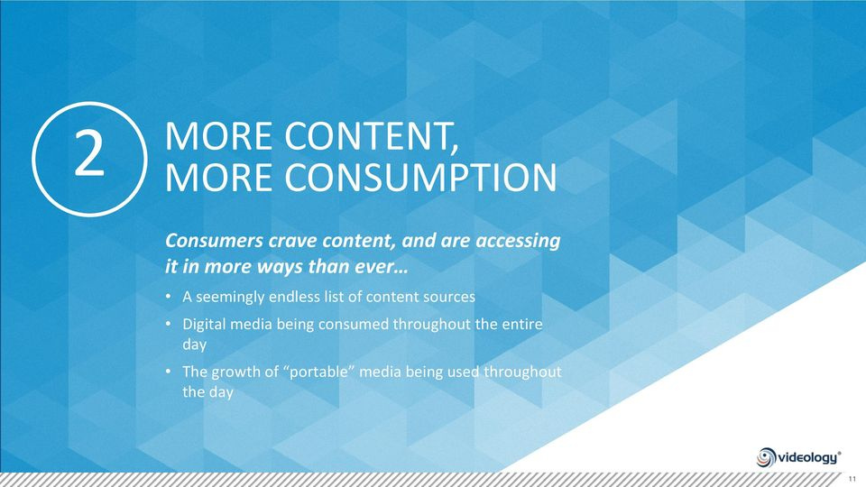 content sources Digital media being consumed throughout the