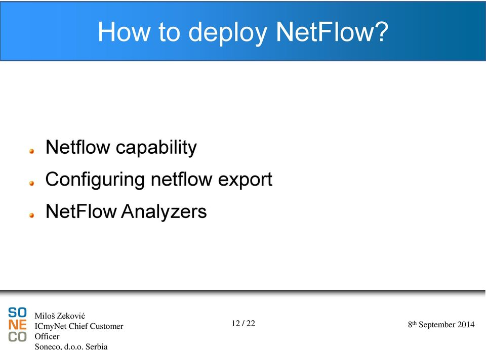 Configuring netflow