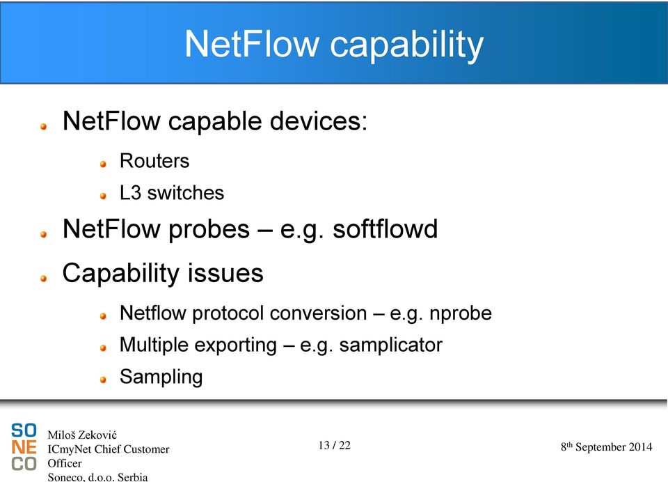 softflowd Capability issues Netflow protocol