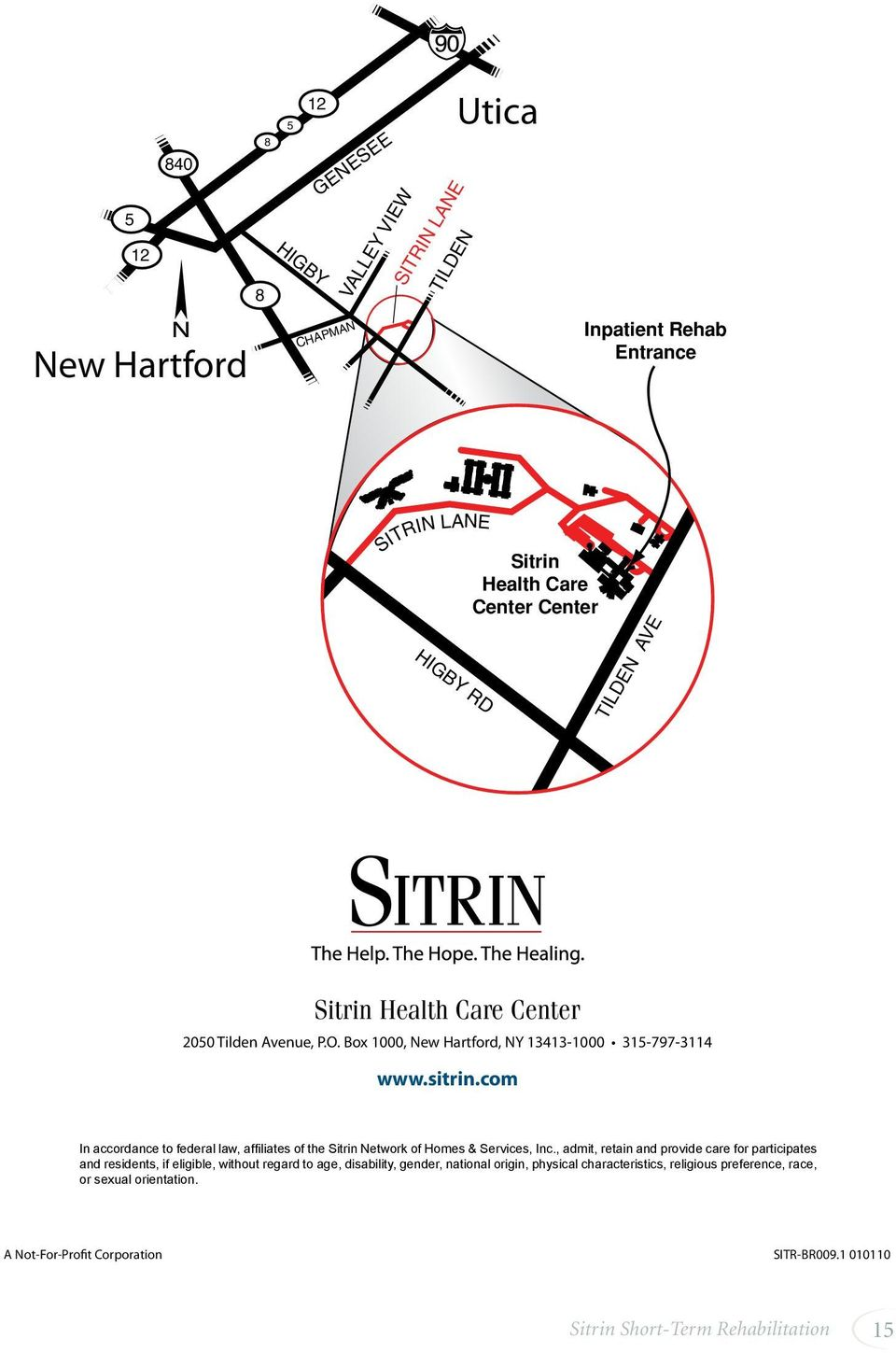 Sitrin Health Care Center 2050 Tilden Avenue, P.O.
