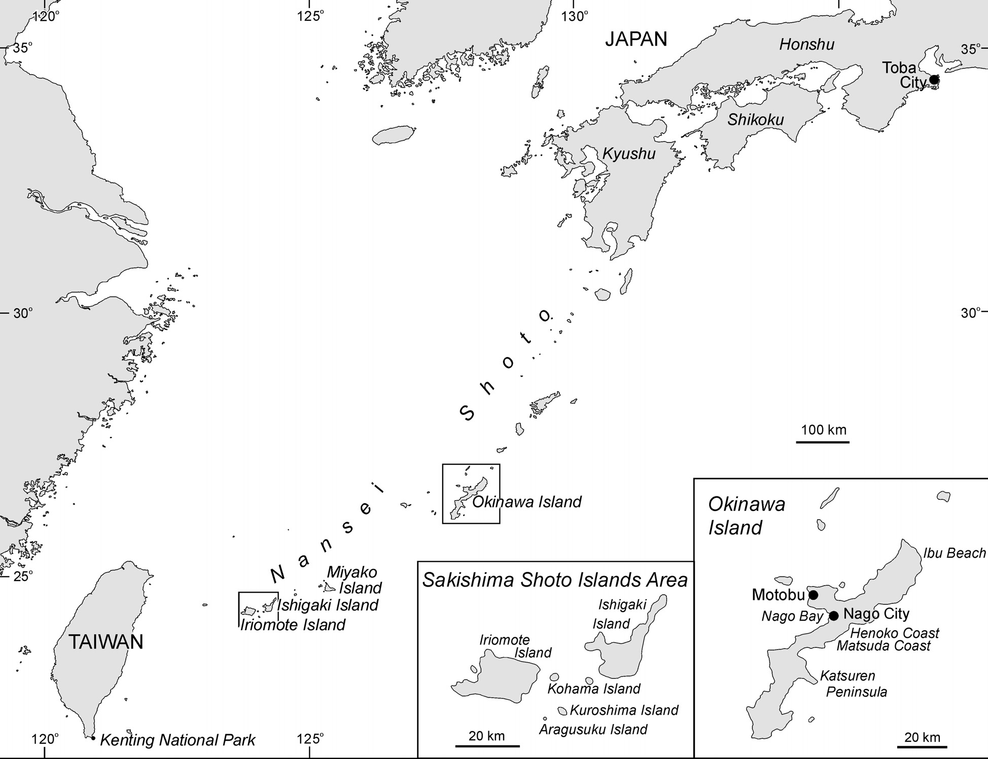 Distribution and Abundance The presence of dugongs within the Nansei Shoto or the South Western Islands of Japan has been well established for many centuries.