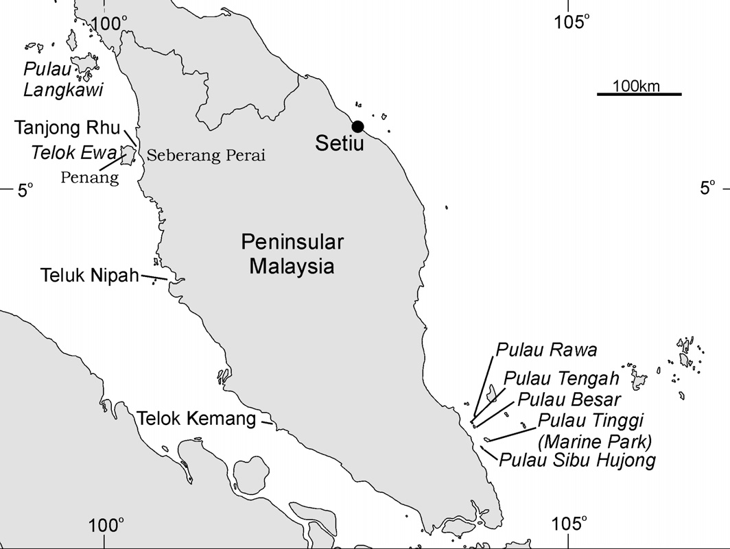 Tekong (Figure 4.7). Dugong meat used to fetch a good price as the meat is much esteemed by the Chinese and Malays as a luxury generally eaten only at feasts (Sigurdsson & Yang 1990).