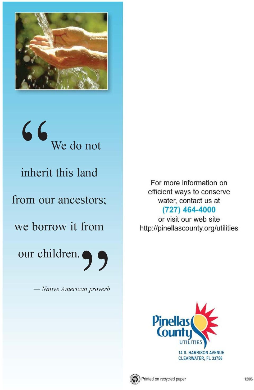 we borrow it from our