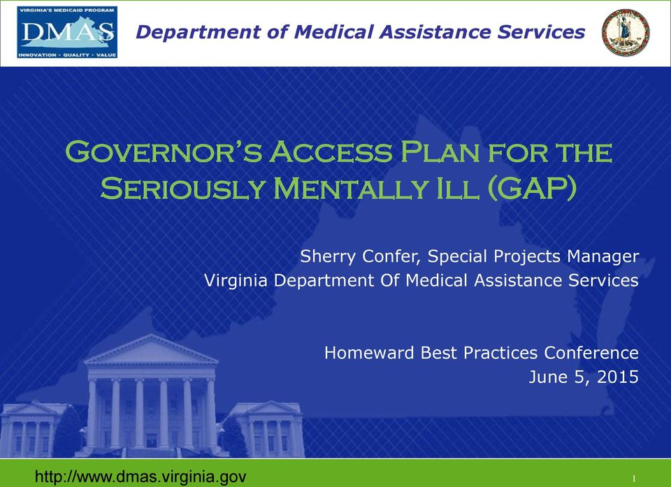 Special Projects Manager Virginia Department Of Medical Assistance Services