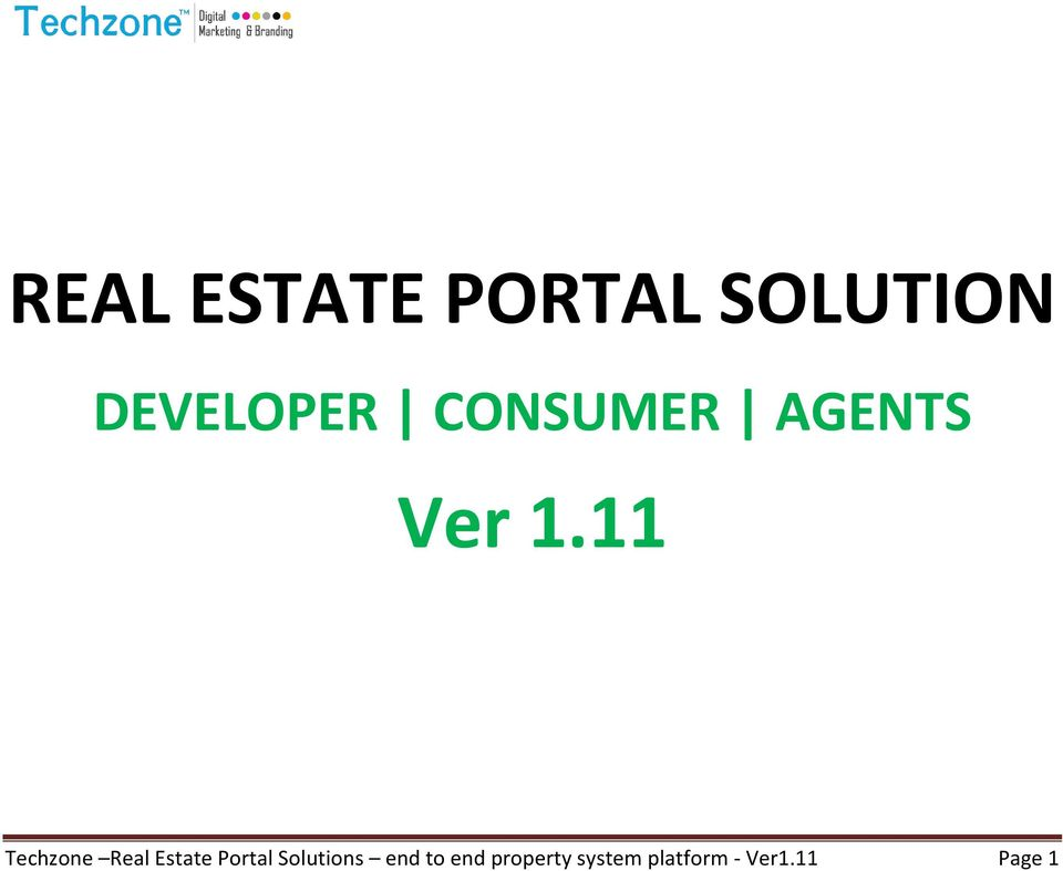 11 Techzone Real Estate Portal