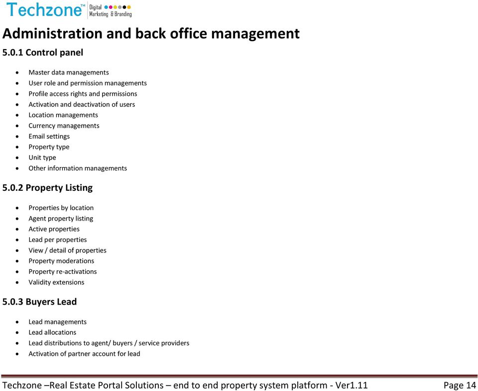 managements Email settings Property type Unit type Other information managements 5.0.