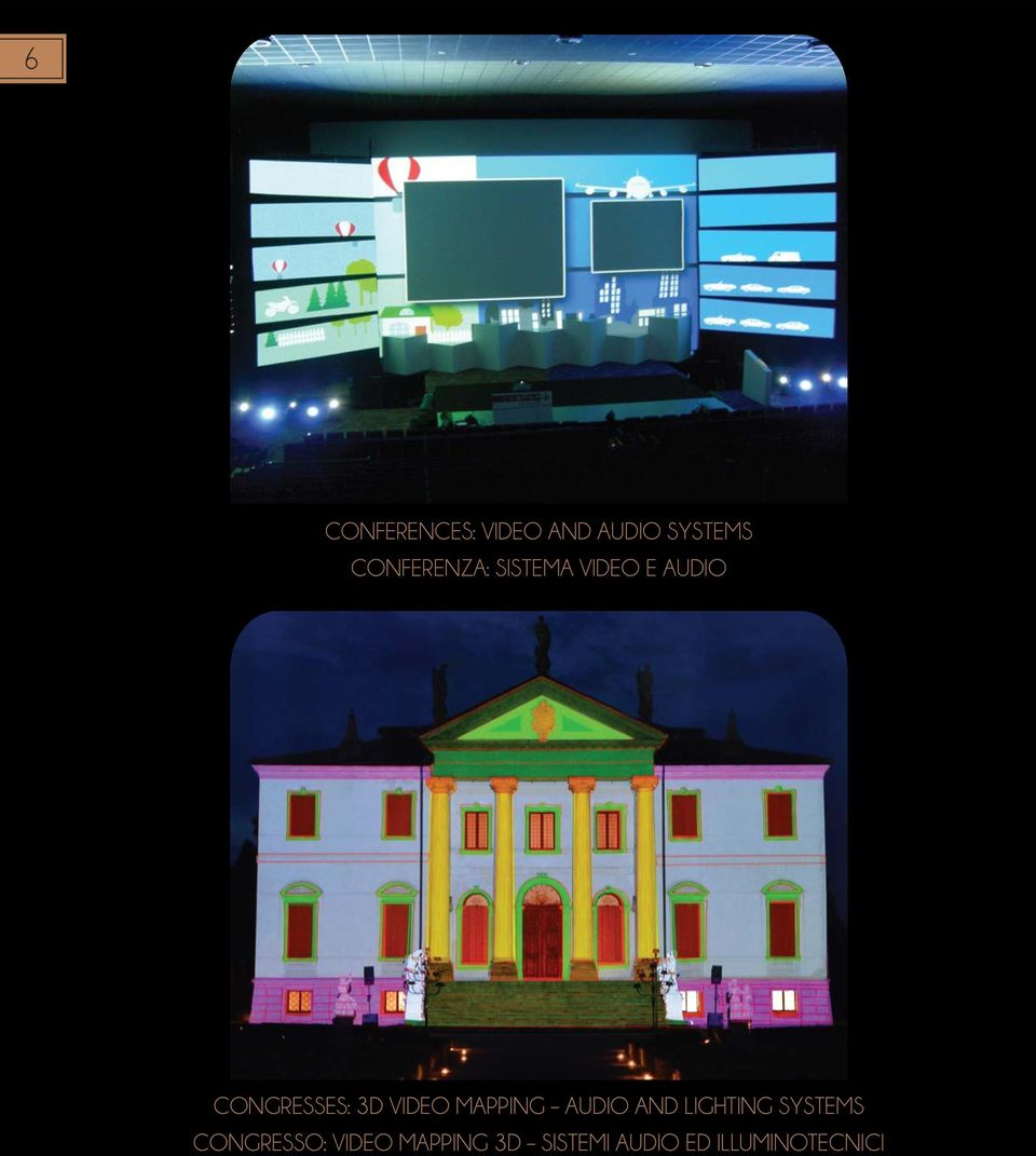 3D VIDEO MAPPING AUDIO AND LIGHTING SYSTEMS