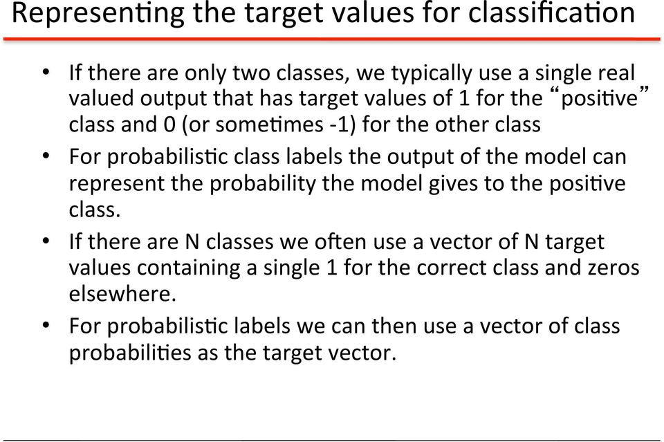 represent the probability the model gives to the posi've class.