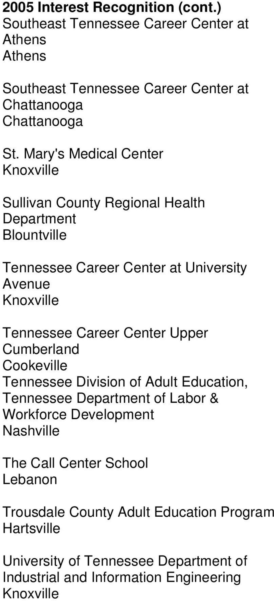 Career Center Upper Cumberland Tennessee Division of Adult Education, Tennessee Department of Labor & Workforce Development The Call