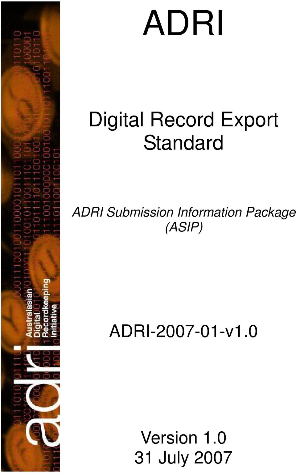Information Package (ASIP)