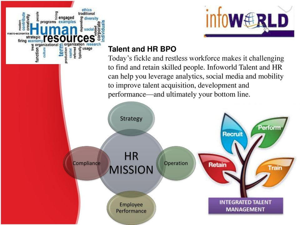 Infoworld Talent and HR can help you leverage analytics, social media and mobility to