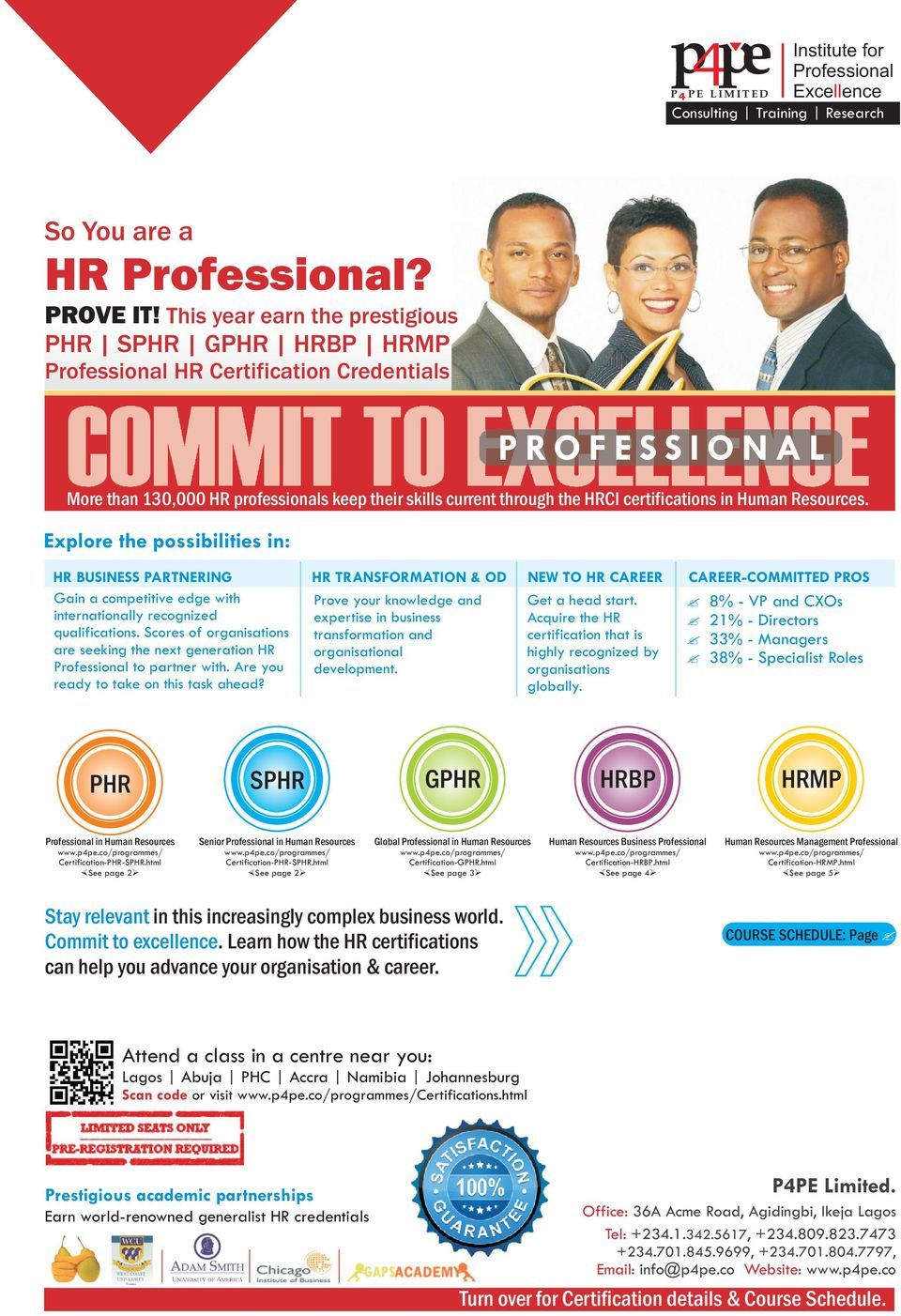 through the HRCI certifications in Human Resources.