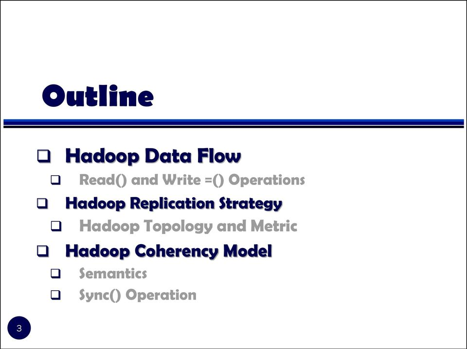 Strategy Hadoop Topology and Metric