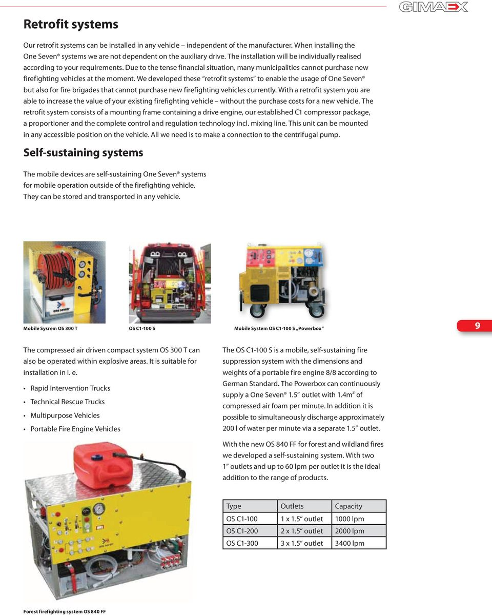 We developed these retrofit systems to enable the usage of One Seven but also for fire brigades that cannot purchase new firefighting vehicles currently.