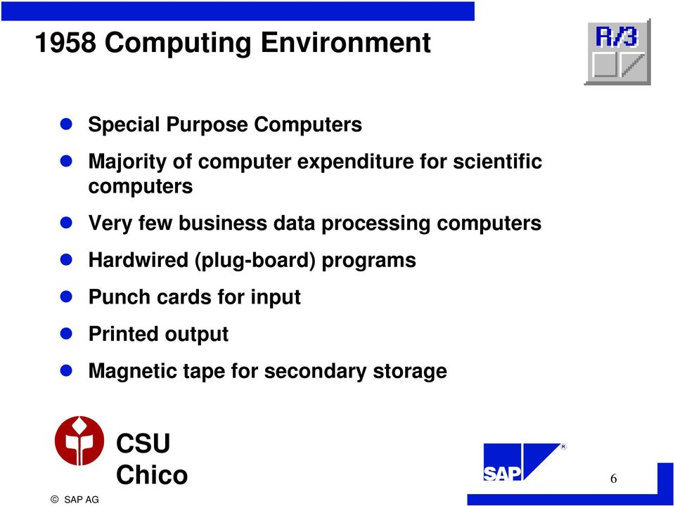 data processing computers Hardwired (plug-board) programs Punch