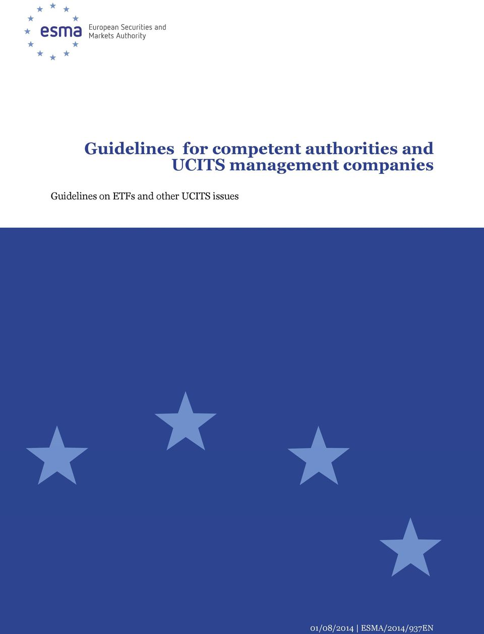companies Guidelines on ETFs and
