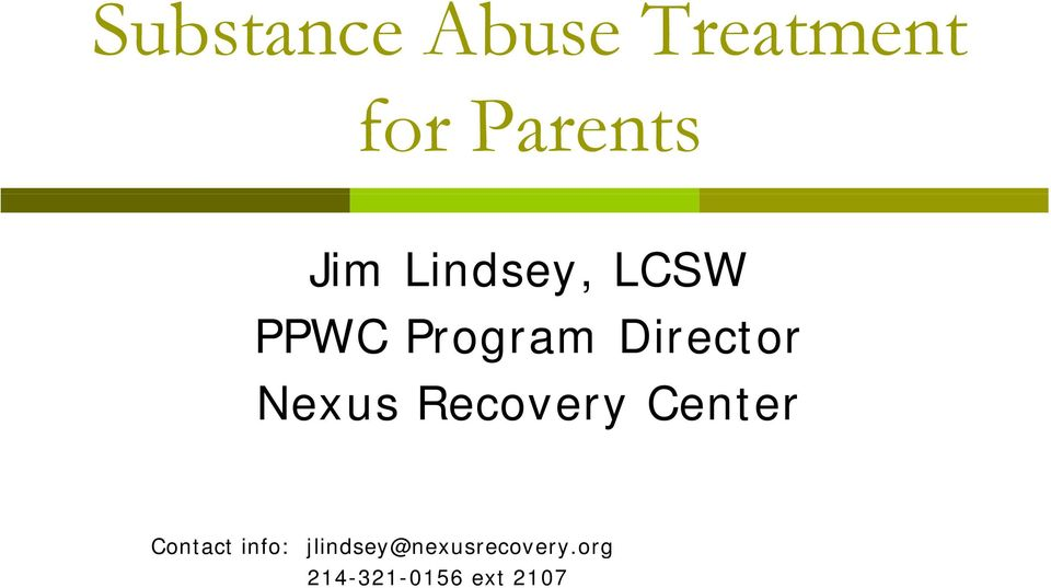 Nexus Recovery Center Contact info: