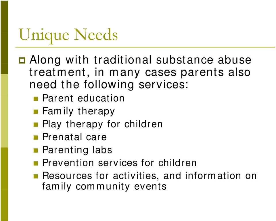 therapy Play therapy for children Prenatal care Parenting labs Prevention
