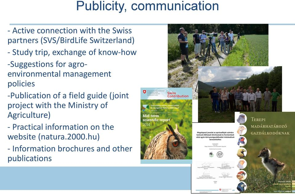 a field guide (joint project with the Ministry of Agriculture) - Practical information on