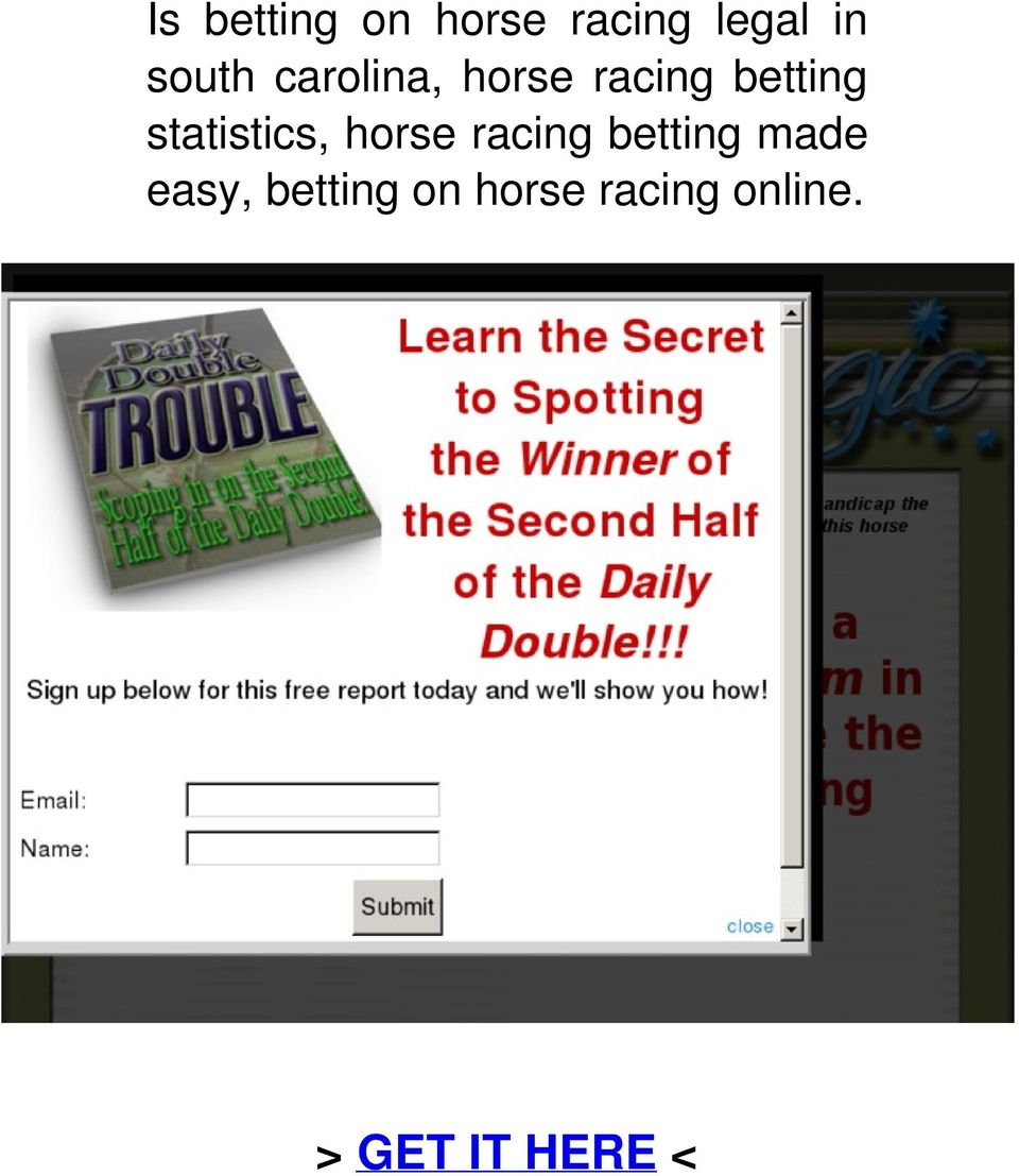 statistics, horse racing betting made