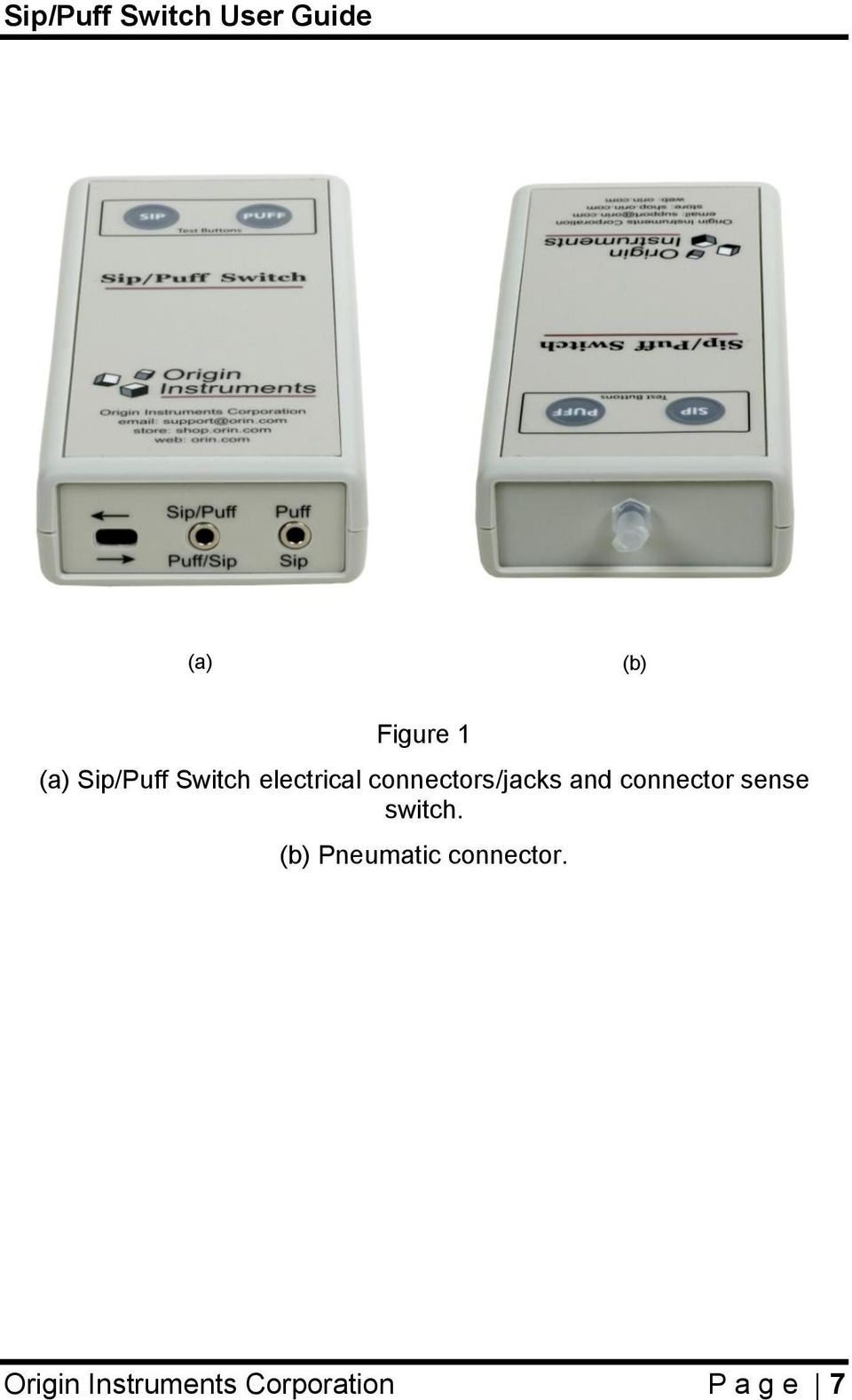 connector sense switch.