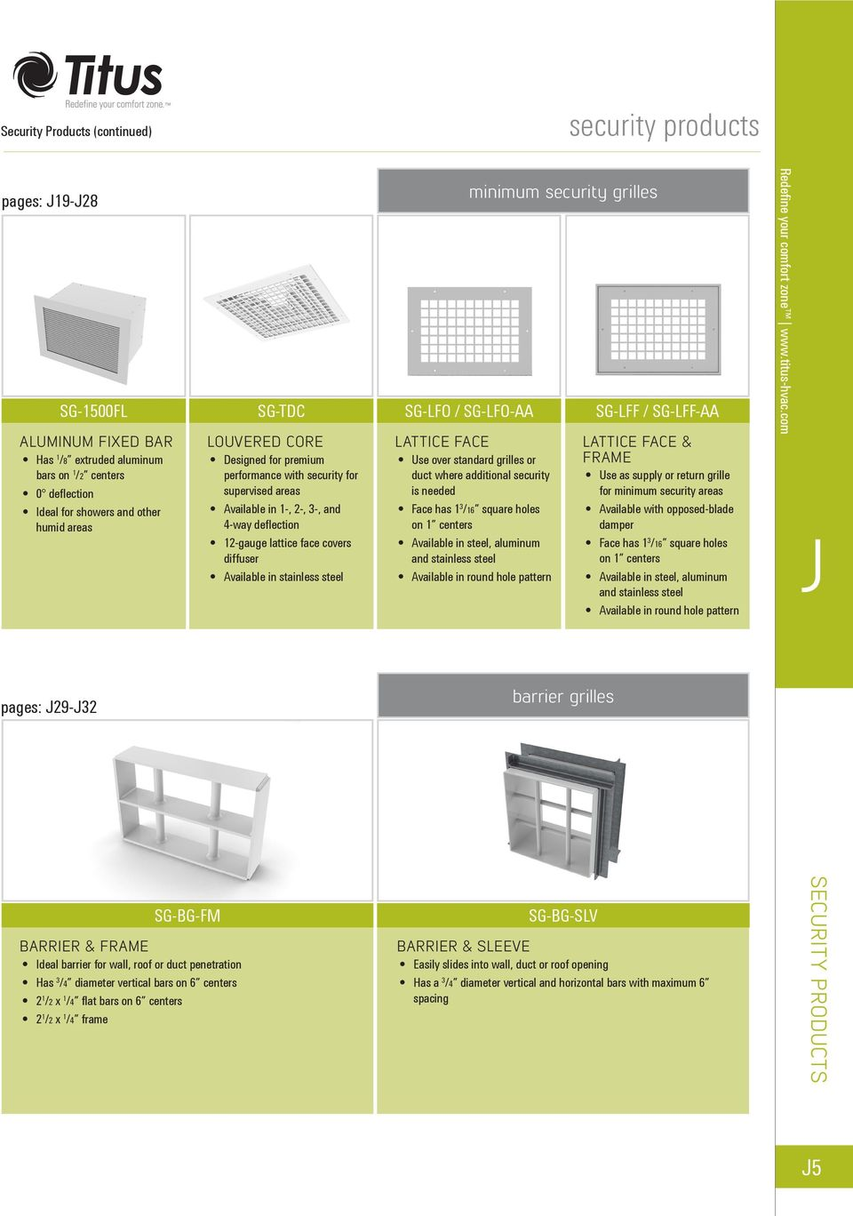 grilles SG-LFO / SG-LFO-AA LATTICE FACE Use over standard grilles or duct where additional security is needed Face has 1 3 /16 square holes on 1 centers Available in steel, aluminum and stainless