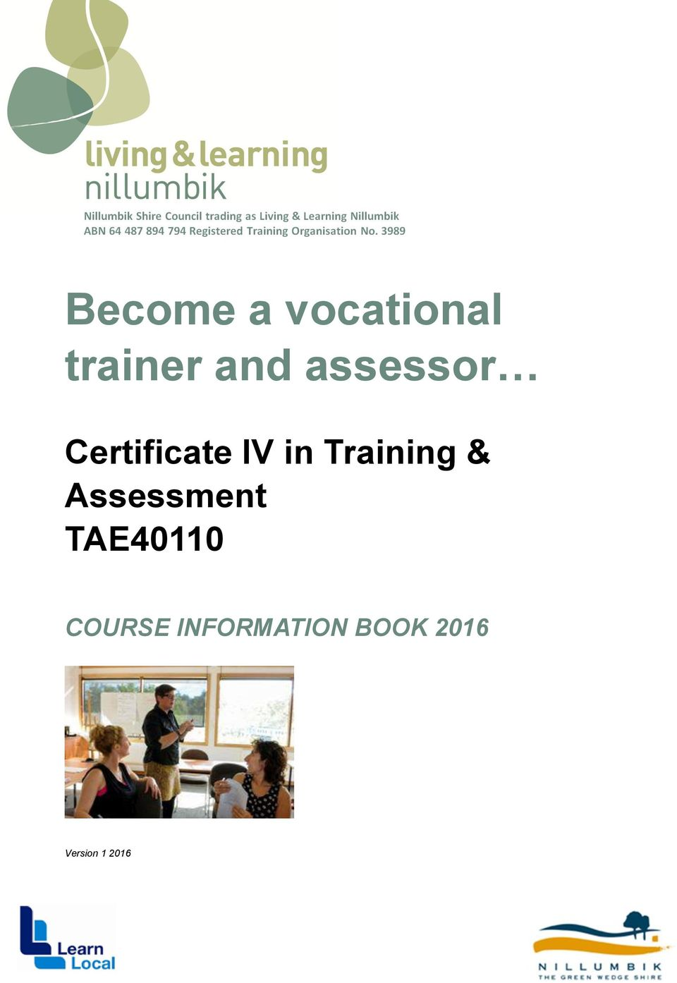Training & Assessment TAE40110