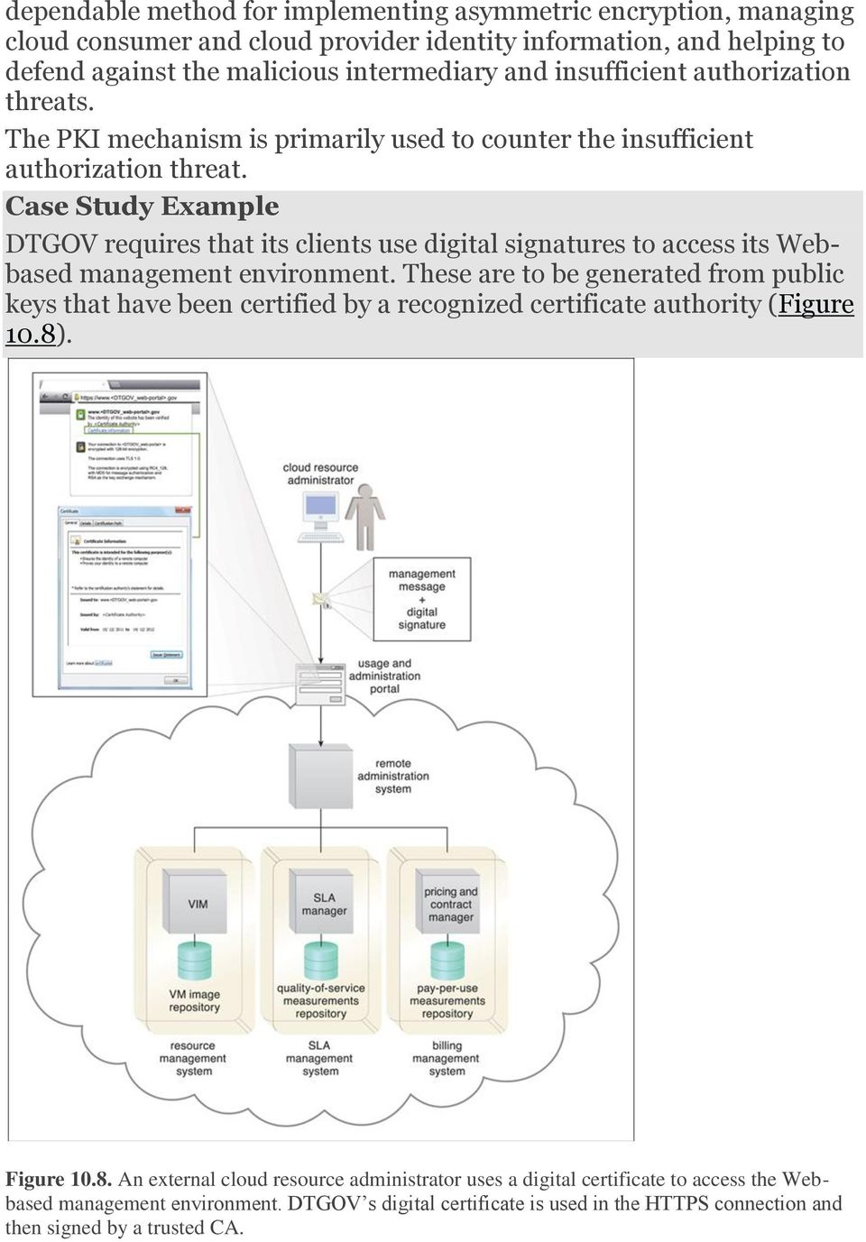 Case Study Example DTGOV requires that its clients use digital signatures to access its Webbased management environment.