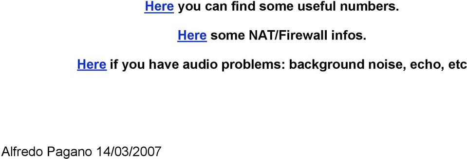 Here if you have audio problems: