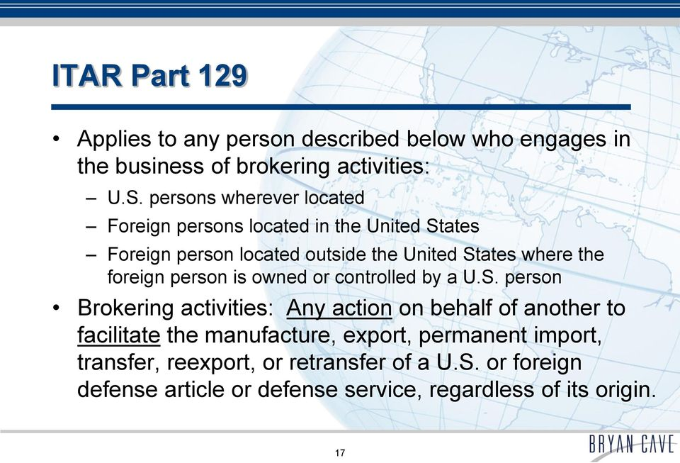 foreign person is owned or controlled by a U.S.