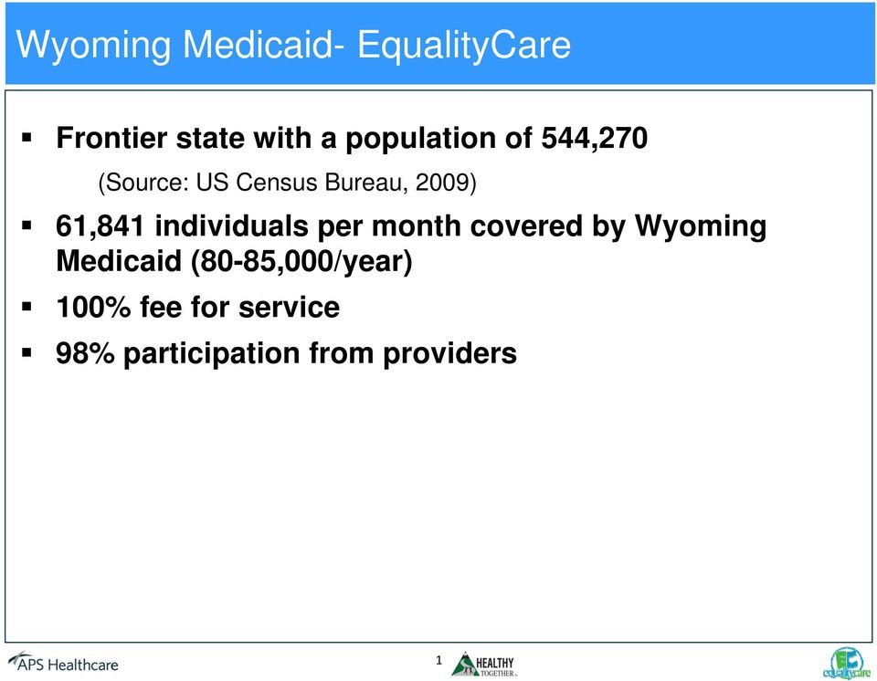 61,841 individuals per month covered by Wyoming Medicaid