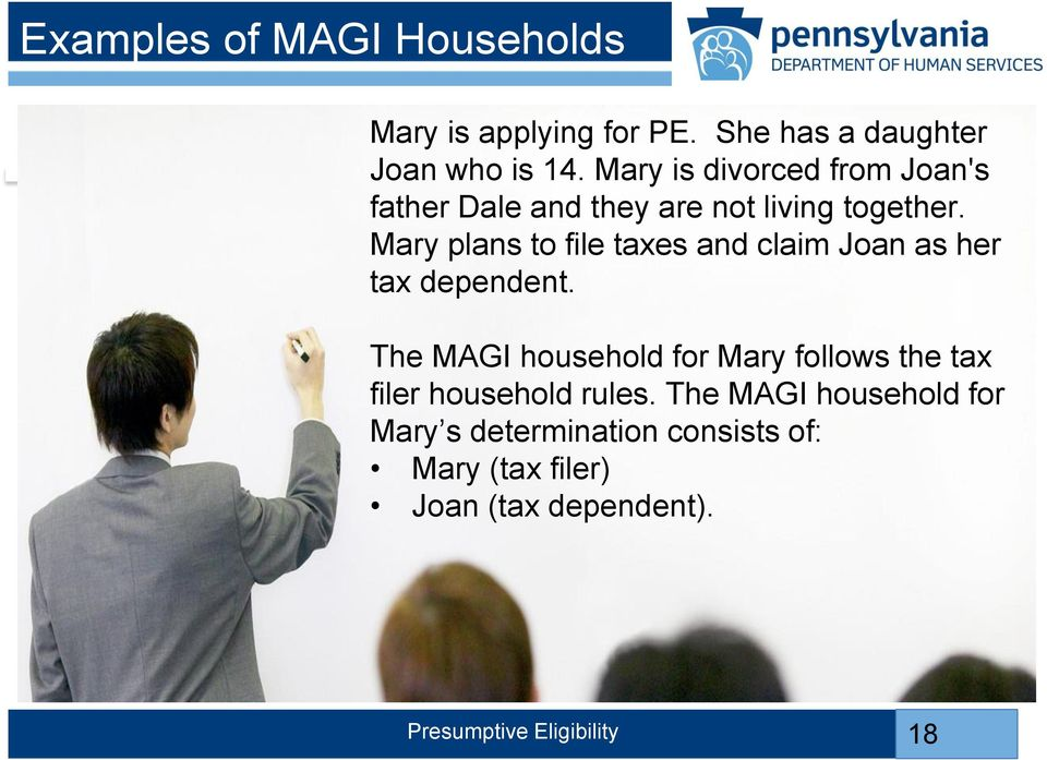 Mary plans to file taxes and claim Joan as her tax dependent.