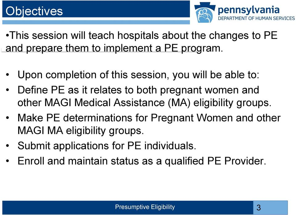 MAGI Medical Assistance (MA) eligibility groups.