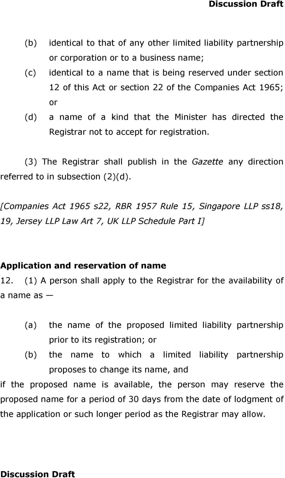 (3) The Registrar shall publish in the Gazette any direction referred to in subsection (2)(d).