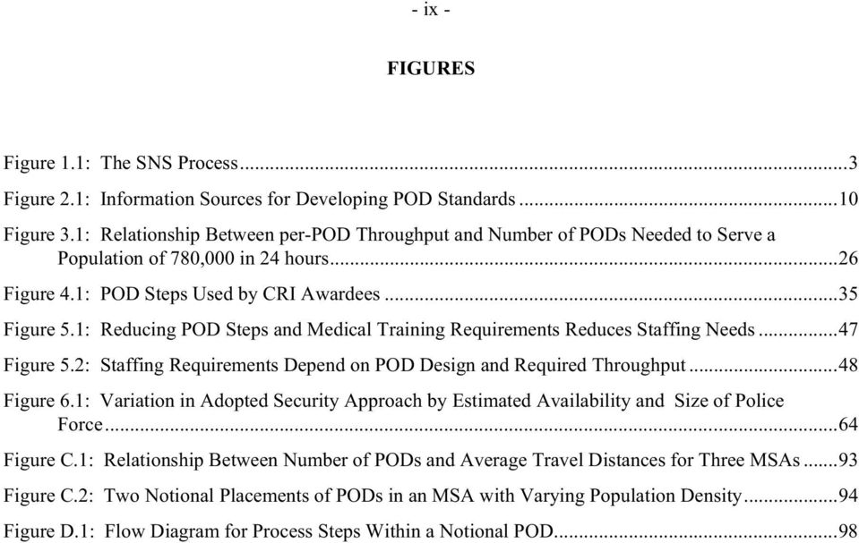 1: Reducing POD Steps and Medical Training Requirements Reduces Staffing Needs...47 Figure 5.2: Staffing Requirements Depend on POD Design and Required Throughput...48 Figure 6.