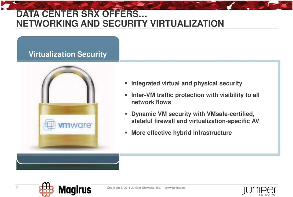network flows Dynamic VM security with VMsafe-certified, stateful firewall and
