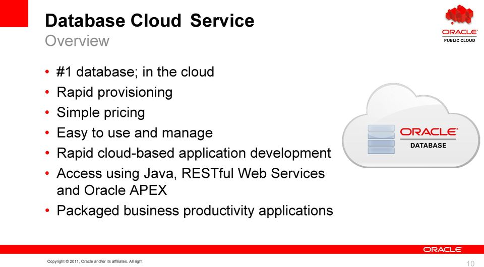 cloud-based application development Access using Java, RESTful