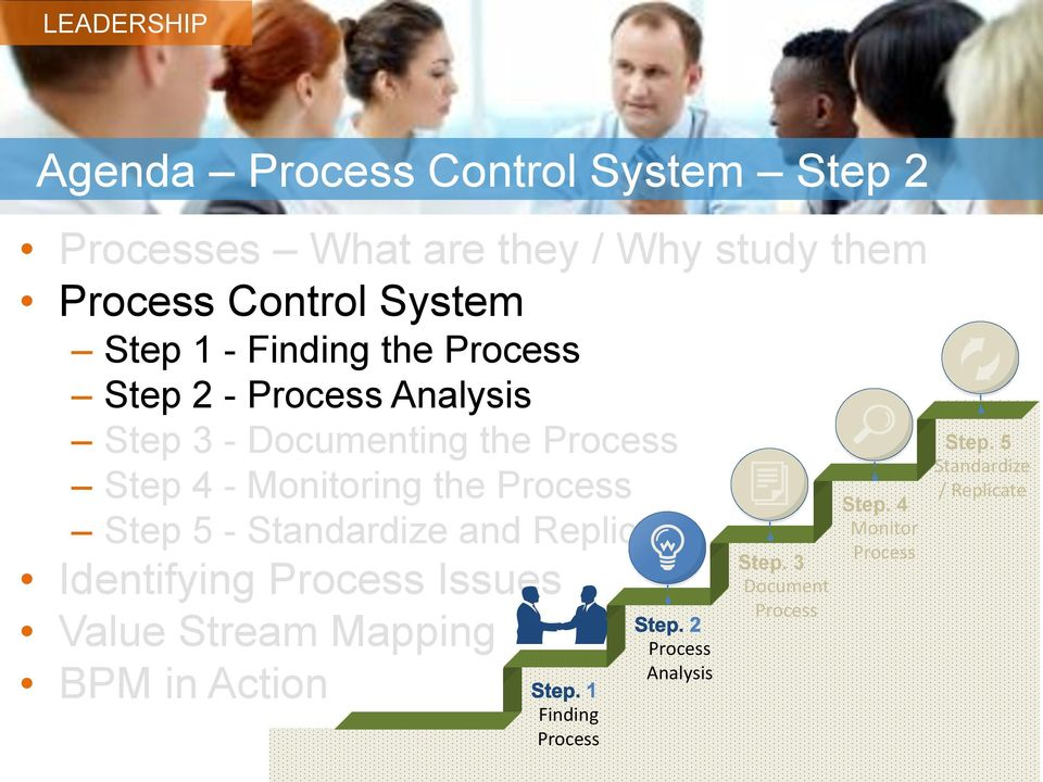 Process Step 5 - Standardize and Replicate Identifying Process Issues Value Stream Mapping BPM in Action
