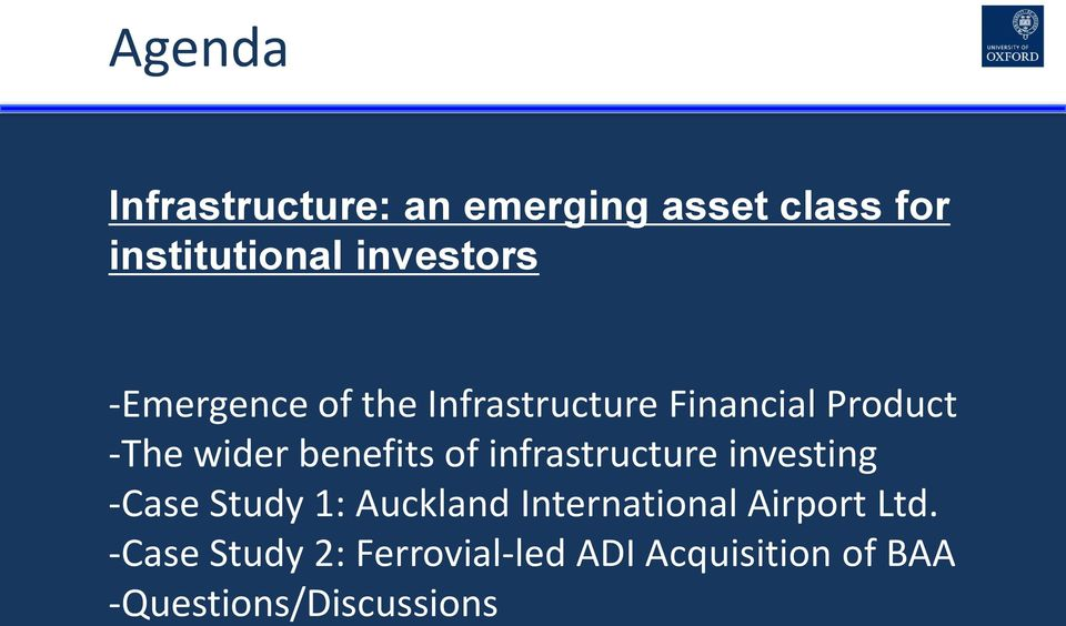 infrastructure investing -Case Study 1: Auckland International Airport Ltd.