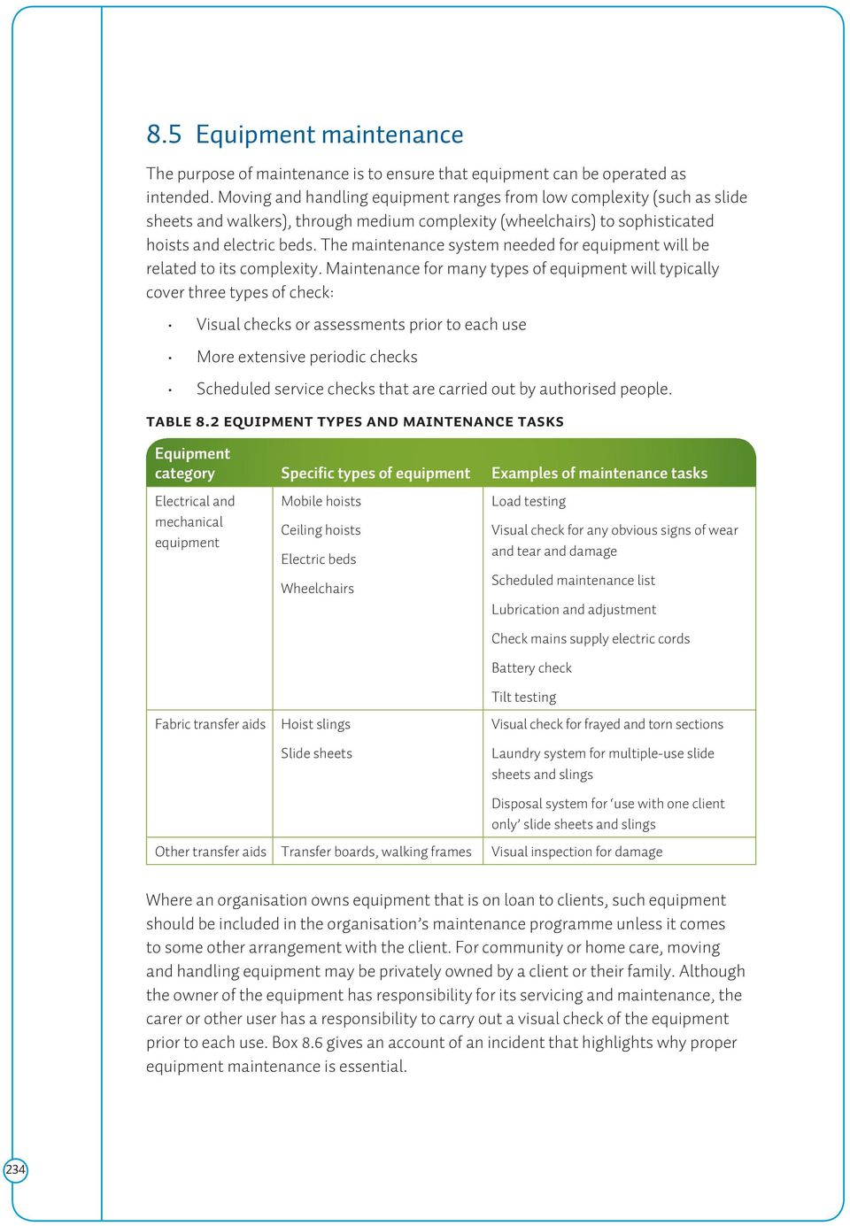 Equipment management section 8 contents pdf the maintenance system needed for equipment will be related to its complexity fandeluxe Choice Image