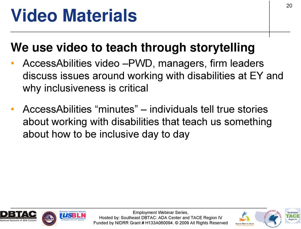 why inclusiveness is critical AccessAbilities minutes individuals tell true stories